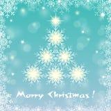 抽象圣诞树 免版税库存图片