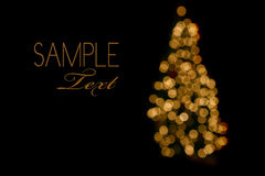 抽象圣诞灯结构树 图库摄影