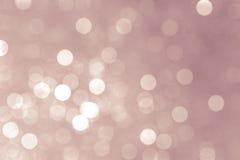 抽象圣诞灯,背景bokeh圈子 免版税库存照片