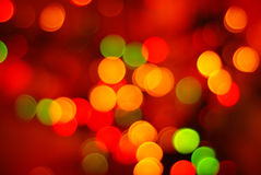 抽象圣诞灯 库存照片