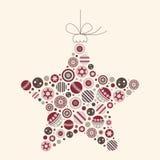 抽象圣诞节例证星形向量 库存图片