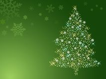 抽象圣诞节例证结构树 免版税库存照片