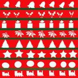 抽象圣诞节例证 免版税库存图片