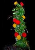 抽象圣诞节冷杉木-工业废料 库存图片