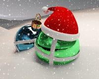 抽象圣诞节场面 库存照片