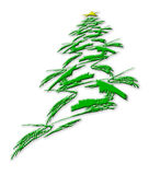 抽象圣诞节星形结构树白色 库存照片