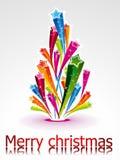 抽象圣诞节星形结构树 免版税库存照片