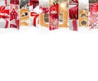 抽象圣诞节混合 图库摄影