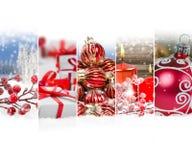 抽象圣诞节混合 库存照片