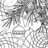 抽象圣诞节着色页书背景 免版税库存图片