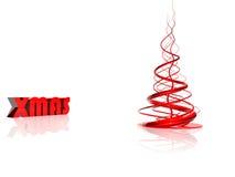 抽象圣诞节红色结构树 库存图片