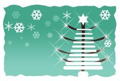 抽象圣诞节绿色结构树 免版税库存图片