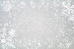抽象圣诞节背景-闪烁和雪花 免版税图库摄影