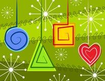 抽象圣诞节装饰品 免版税库存图片