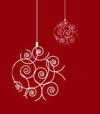 抽象圣诞节装饰 图库摄影