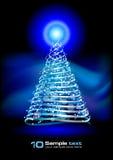 抽象圣诞节设计结构树向量 向量例证