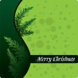 抽象圣诞节设计绿色 免版税库存照片