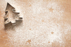 抽象圣诞节食物背景用曲奇饼 库存图片