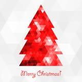 抽象圣诞节马赛克结构树 免版税库存照片