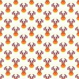 抽象圣诞节鹿样式墙纸。传染媒介 免版税库存照片