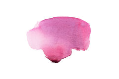 抽象在白色背景的水彩水彩画手拉的五颜六色的形状艺术油漆泼溅物污点 图库摄影