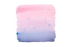 抽象在白色背景的水彩水彩画手拉的五颜六色的形状艺术油漆泼溅物污点 免版税图库摄影