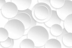 抽象在背景纹理的圈子白色颜色 免版税图库摄影