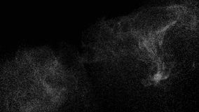 抽象在黑背景的数字动画空白噪声 库存例证