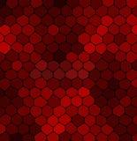 抽象在黑背景的马赛克红色石头 免版税库存图片