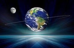 抽象地球例证月亮 库存图片