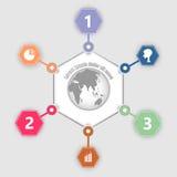 抽象地球信息图表 免版税库存图片