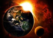 抽象地球地面图象行星平稳的表面 免版税库存图片