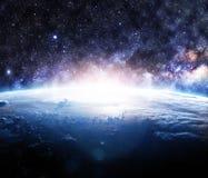 抽象地球地面图象行星平稳的表面 库存例证