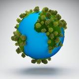 抽象地球绿色行星 库存图片