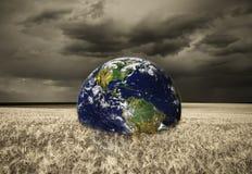 抽象地球领域风暴 免版税库存图片