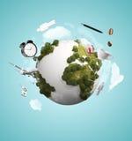 抽象地球 免版税库存图片