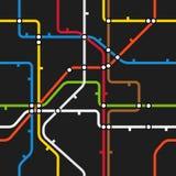 抽象地铁计划无缝的背景  免版税库存照片