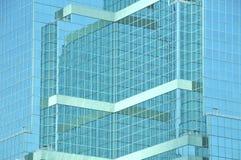 抽象块玻璃办公室 库存图片