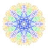 抽象坛场 花卉装饰边 库存图片