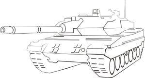 抽象坦克 皇族释放例证