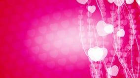 抽象垂直的流程心脏微粒动画 库存例证