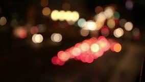 抽象城市光在晚上 股票视频