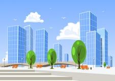 抽象城市向量 免版税库存图片