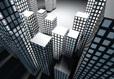 抽象城市在晚上 库存图片