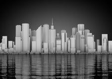 抽象城市地平线 免版税库存图片