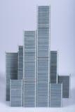 抽象城市钉书针 免版税库存图片