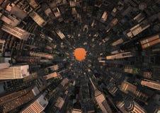 抽象城市隧道 库存图片