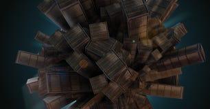 抽象城市|抽象大厦 免版税库存照片