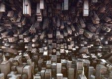 抽象城市 免版税库存图片