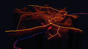 抽象城市 免版税图库摄影